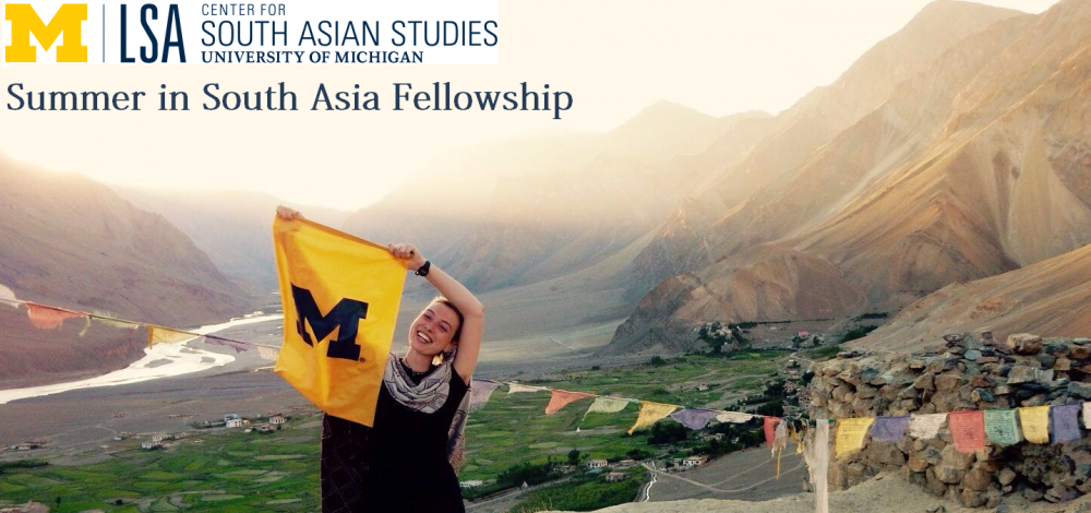 Summer in South Asia Fellowship